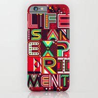 iPhone Cases featuring Life is an Experiment by dzeri29