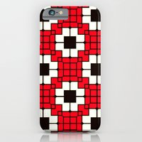 Retro Mosaic Red & Black iPhone 6 Slim Case