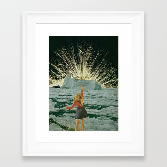golden hair Framed Art Print