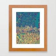 Philadelphia City Skylin… Framed Art Print