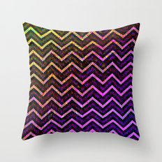 Grunge Zig Zag Pattern G85 Throw Pillow
