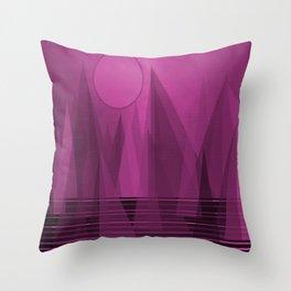 Throw Pillow - Purple Landscape - SARTORIS Art