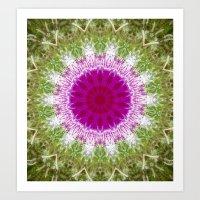 Thistle Mandala Art Print