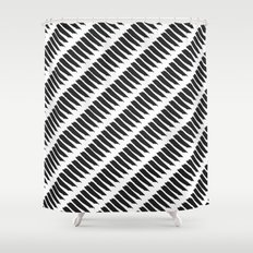 Black and White Tiger Stripes Shower Curtain