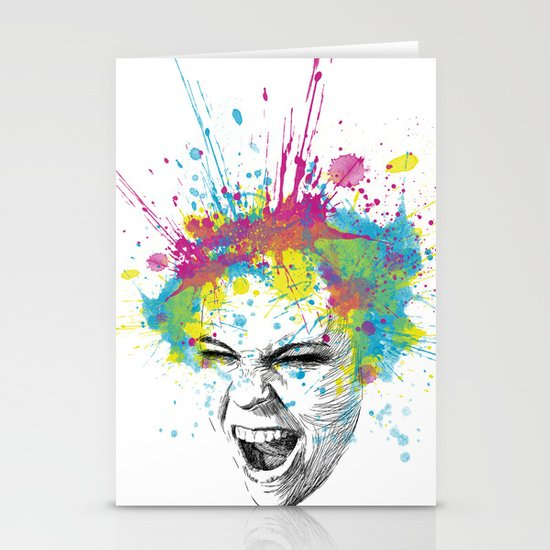 Colorful Scream Stationery Card