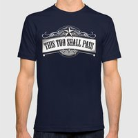 This Too Shall Pass Mens Fitted Tee Navy SMALL