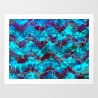 Chevron Waves Art Print