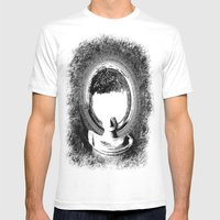 Elliptical Mens Fitted Tee White SMALL