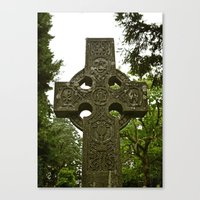 Canvas Print featuring Celtic cross by Vorona Photography