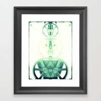 Oil the wheels Framed Art Print