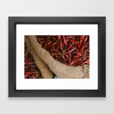 Peppers in the Market Framed Art Print