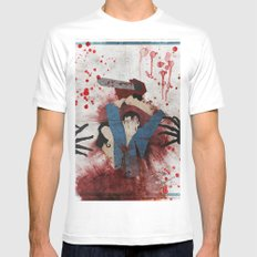 Evil White Mens Fitted Tee SMALL