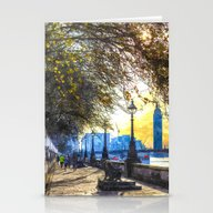River Thames Path Waterc… Stationery Cards