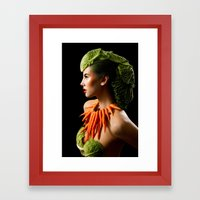 Eat Your Greens Framed Art Print