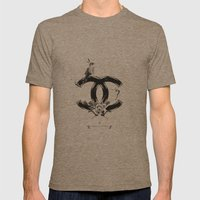 CHANEL Mens Fitted Tee Tri-Coffee SMALL