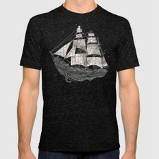 Wherever the wind blows Mens Fitted Tee Tri-Black SMALL