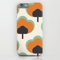 orange flowers iPhone 6 Slim Case
