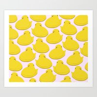 yellow peep Art Print
