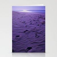 Purple Nights  Stationery Cards