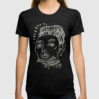 Floating Heads (Halloween Edition) Womens Fitted Tee Tri-Black SMALL