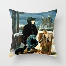 Pretzel-boy, after Peter Fendi Throw Pillow