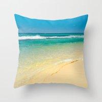Maui Beaches Into The Bl… Throw Pillow