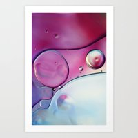 Passion Pink Bubble Abst… Art Print