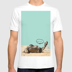 Pushkar fair chillout SMALL White Mens Fitted Tee