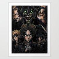 Attack On Titan  Shingek… Art Print