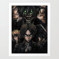 Attack On Titan  Shingek… Art Print