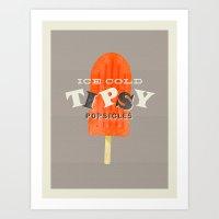 Tipsy Popsicles Art Print