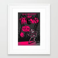 Framed Art Print featuring FUCK YOU TOO // The Thing by boy Roland
