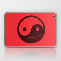 yin yang smiley ;-( Laptop & iPad Skin