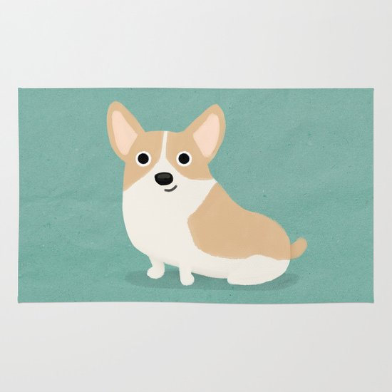 Corgi - Cute Dog Series Area & Throw Rug