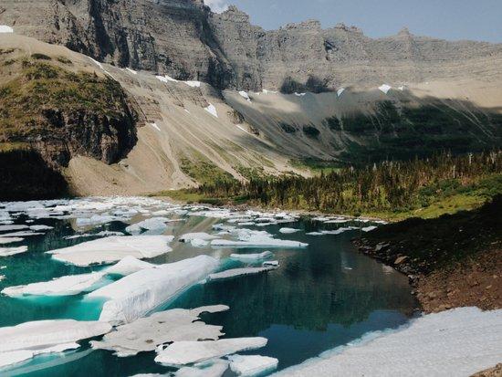 Iceberg Lake, Glacier National Park Art Print