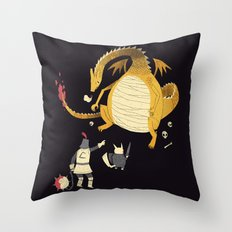 ye hath to catcheth them all(black) Throw Pillow