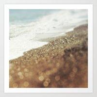 BEACH Golden Bliss Art Print