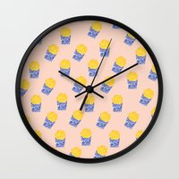 Floral Fries Wall Clock