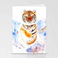tiger Stationery Cards featuring Tiger by Anna Shell