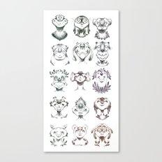 Monster Heads Canvas Print