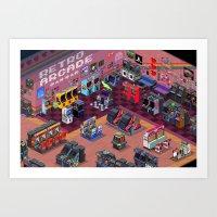 Retro Arcade Art Print