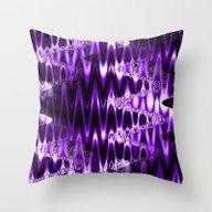 Warped Glass (lush Purpl… Throw Pillow