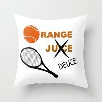 Orange Deuce Throw Pillow