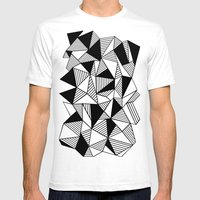 Ab Lines with Black Blocks Mens Fitted Tee White SMALL