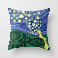 Impressionist Lanterns Throw Pillow