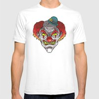 Badass Clown Mens Fitted Tee White SMALL