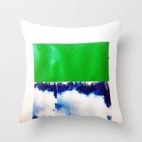 SKY/GRN Throw Pillow