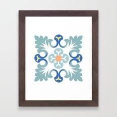 Floor tile 5 Framed Art Print