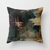 Darkness In The Old City Throw Pillow