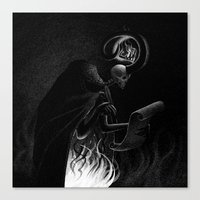 Drawlloween 2015: Demon Canvas Print